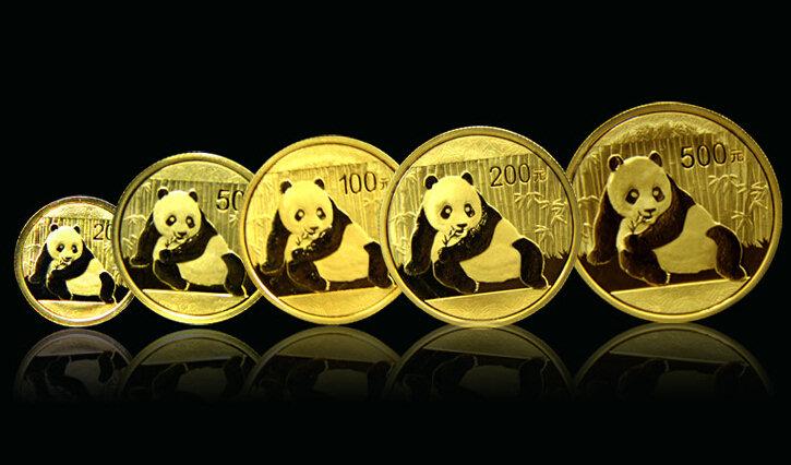 2015年熊猫金币 套装 金套猫 初打币<大盒装>